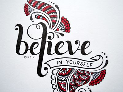 Hand lettered doodle, it's a little uneven with the last two letters but decided to leave it as it is.  See the full project here  Thinking to do a series of inspiring words or quotes :)