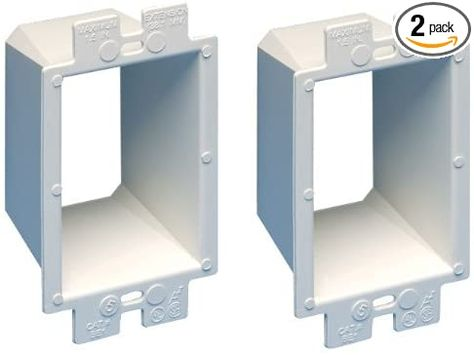 Arlington Be1 2 Electrical Outlet Box Extender 1 Gang White 2 Pack Amazon Com In 2020 Electrical Outlets Electricity Locker Storage