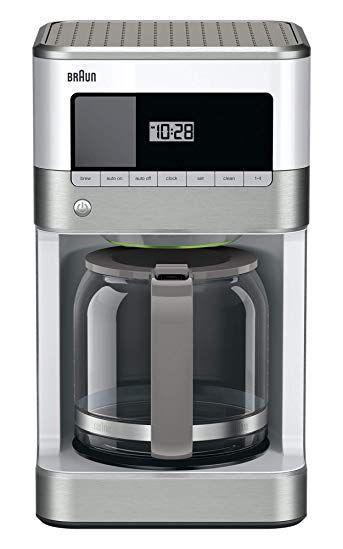 Braun Kf6050wh Brewsense Drip Coffee Maker White Review Drip Coffee Maker Best Coffee Maker Best Drip Coffee Maker
