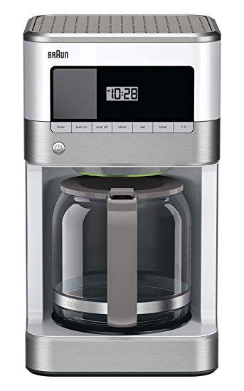 Braun Kf6050wh Brewsense Drip Coffee Maker White Review Drip Coffee Maker Best Coffee Maker Best Drip Coffee Maker