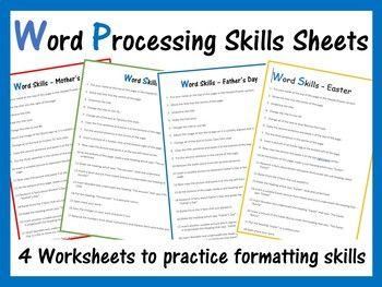 Microsoft Word Exercise Worksheets | Microsoft Word Teaching ...