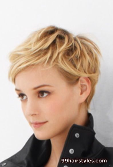 cute blonde short hair