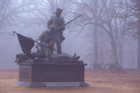 The Tennessee Monument commemorates the thousands of Tennesseans who served on both sides in the Battle of Shiloh.