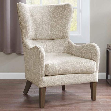 Arianna Sky Wingback Armchair 19a41 Lamps Plus Upholstered