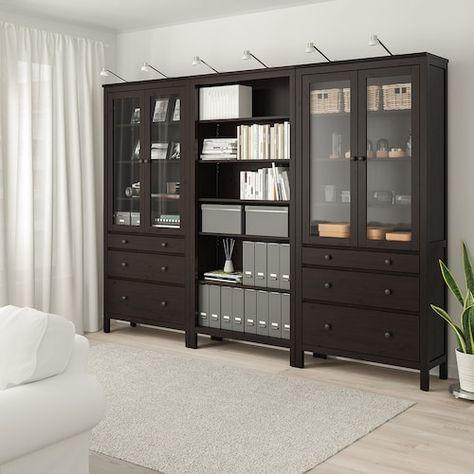 Havsta Storage Combination W Glass Doors Dark Brown Ikea