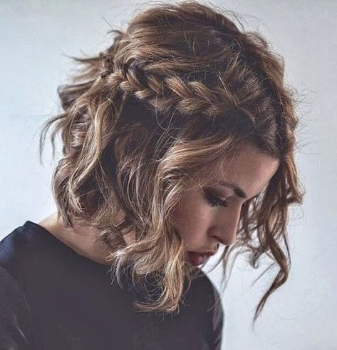 46 Stylish Short Hairstyle Braids Ideas - TILEPENDANT#braids #hairstyle #ideas #short #stylish #tilependant
