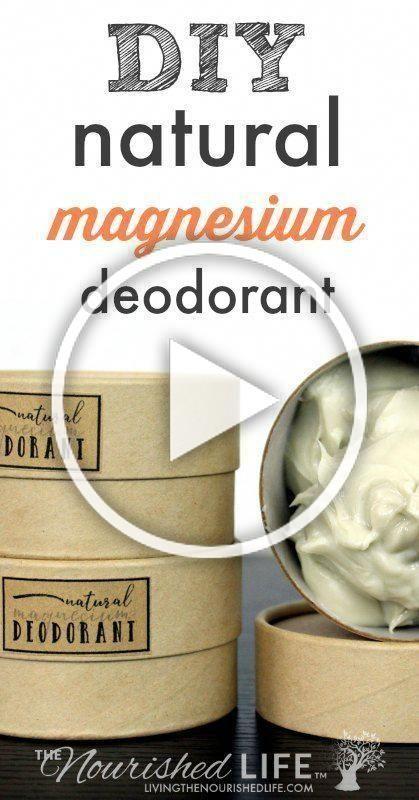 My Natural Magnesium Cream Deodorant Recipe Not Only Fights Odor Causing Bacteri Magnesium Cream Deodorant Recipes Magnesium Deodorant