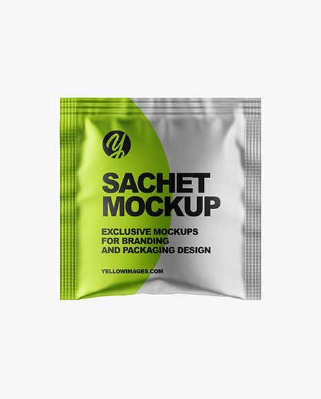 Download Matte Metallic Sachet Mockup Present Your Design On This Mockup Includes Special Layers And Smart Objects For Your Creative Wor Sachet Mockup Free Psd Mockup
