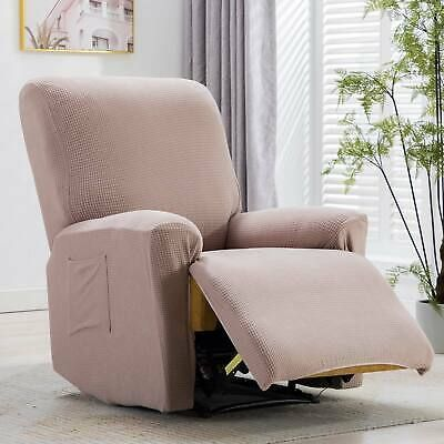 Recliner Chair W Pullable Cup Holder Soft Plush 24 W Sofa Home Theater Seating Ebay In 2020 Recliner Chair Covers Recliner Chair Recliner Cover