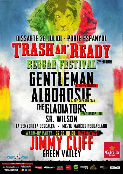 Cartel de la 2ª edición del Trash An' Ready - Reggae Festival