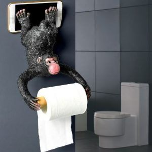 2 In 1 Funny Monkey Tissue And Phone Holder Funny Toilet Paper