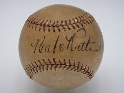 Babe Ruth 6 12 37 Psa Dna Certified Authentic Single Signed Baseball Autograph Autographed Baseballs Babe Ruth Babe Ruth Autograph