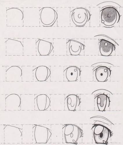 63 Ideas Drawing Cute Eyes Art Eye Drawing Tutorials Eye Drawing Anime Drawings Tutorials