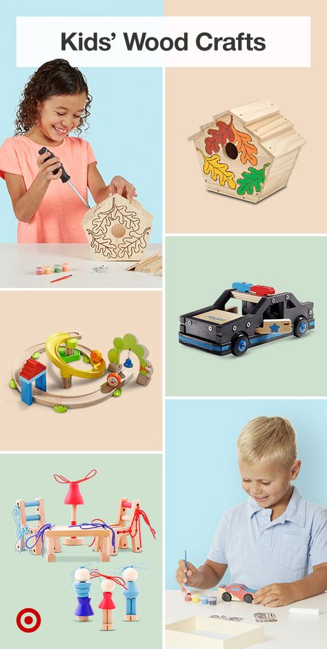 Keep little hands busy with DIY wood crafts  other kids' crafting ideas that help them develop hand-eye coordination  creative skills.