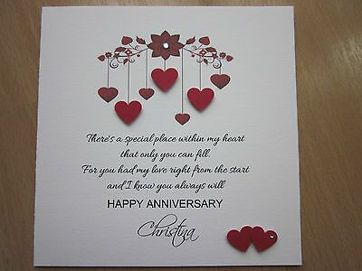 Details About Personalised Handmade Anniversary Engagement