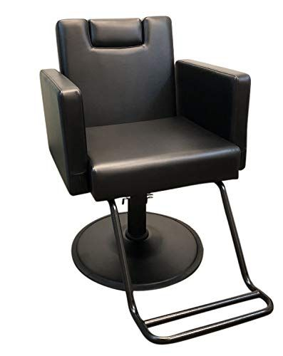 Devlon Northwest Black Reclining Salon Chair Hydraulic Barber