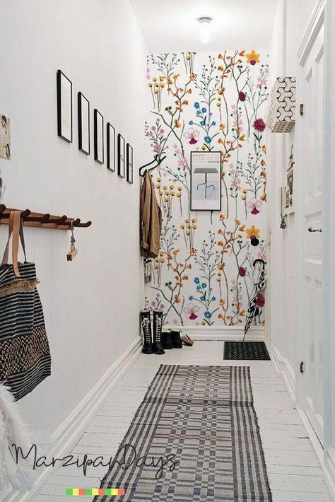 Wilde Bloemen Verwisselbare Wallpaper Tuin Bloemen Wand