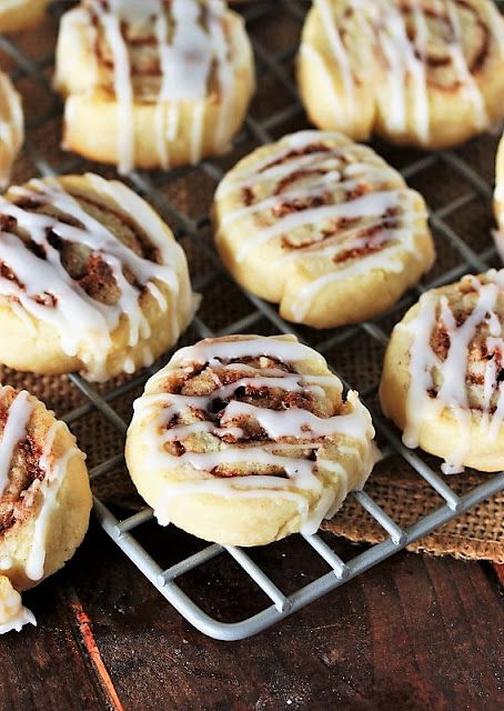 Cinnamon Roll Cookies with Drizzled Icing image