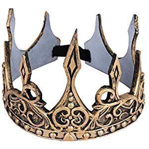 Königskrone Krone für Kostüm König Fasching Karneval Kostümzubehör