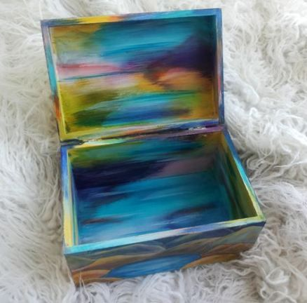 New Painting Wood Box Diy 37 Ideas Diy Painting With Images