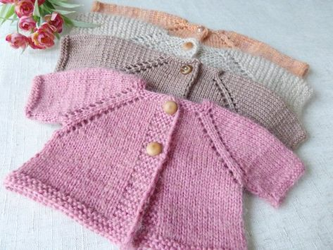 Doll knitted cardigan Baby doll clothes Hand knit mini sweater Dollhouse miniature Jacket Waldorf doll Hand knitting Knitted  blouse