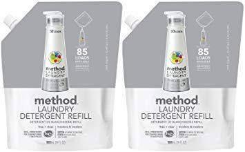 Method Laundry Detergent Refill 34 Oz Free Clear 2 Pk