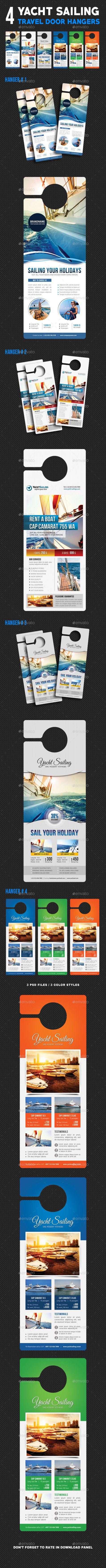 4 Sailing Yacht Travel Door Hanger Bundle