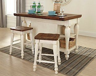 Marsilona Counter Height Dining Room Extension Table With Images Dining Room Storage Furniture Kitchen
