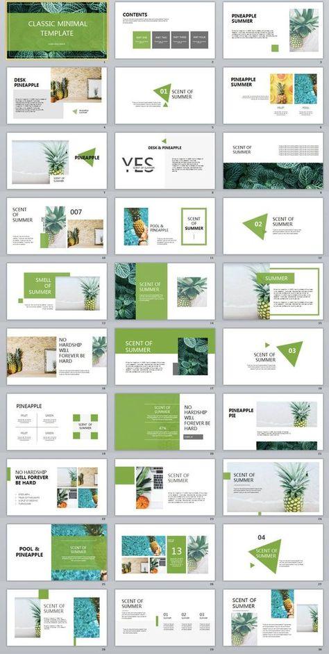 31 Best Green Fruit Design Powerpoint Templates ออกแบบ