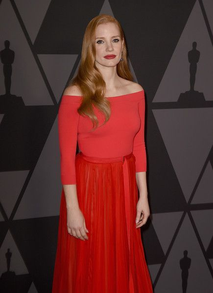 Jessica Chastain attends the Academy of Motion Picture Arts and Sciences' 9th Annual Governors Awards at The Ray Dolby Ballroom.