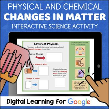 Physical And Chemical Changes In Matter For Google Classroom Distance Learning Changes In Matter Chemical And Physical Changes Chemical Changes