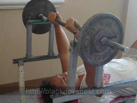 Fantastic Homemade Bench Press Rack This Rack Has Built In Safety Bralicious Painted Fabric Chair Ideas Braliciousco
