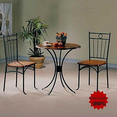 Metal Dining Table Set With 2 Chairs Round For Small Es Apartments And Offices E Book By Tsr