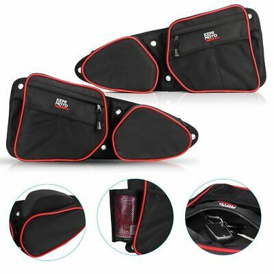 PRP Seats Door Bags w// Knee Pad Front Both Sides Black for 14-17 Polaris RZR