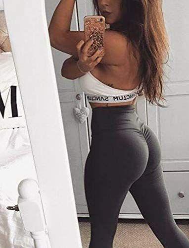 5953491f5 SEASUM Women Scrunch Butt Yoga Pants Leggings High Waist Waistband Workout  Sport Fitness Gym Tights Push Up,#Pants, #Yoga, #High, #Leggings