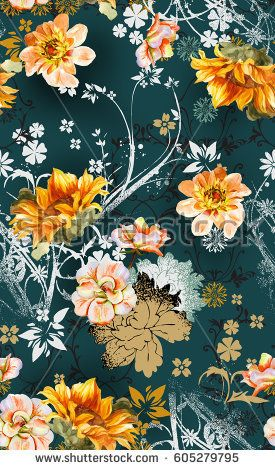 Colorful Fabrics Digitally Printed By Spoonflower Portadown Watercolor Flowers On White Watercolor Flower Background Watercolor Flowers Floral Watercolor