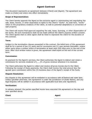 Download Free Template Contract Templates
