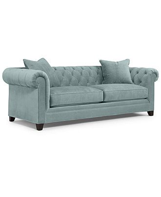 "Martha Stewart Collection Fabric Sofa, Saybridge: Custom Colors 92""W x 40""D x 31""H - Furniture - Macy's"