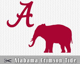 University Of Alabama Svg Alabama A Crimson Tide Layered Logo