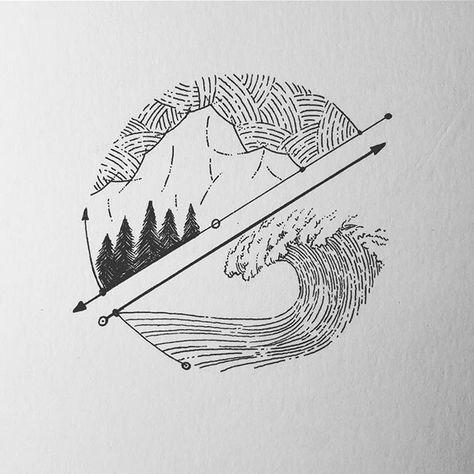 wave crash thumb print