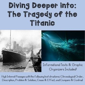 The Titanic Has Intrigued People For Over 100 Years Use This Interactive Titanic Unit In Your Classroom To Te Text Structure Titanic Nonfiction Text Structure