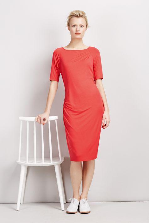 #BestofBritish Modal Rich Drape Midi Dress