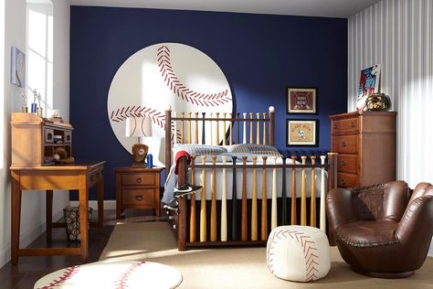 this baseball themed kid's room is... amazing