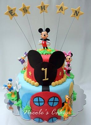 Mickymaus Geburtstagskuchen, Micky Maus Wunderhaus Kuchen, 1.  Geburtstagskuchen, 2. Geburtstag, Geburtstag Ideen, Mickey Party, Mickey  Kuchen, Maus Bday, ...