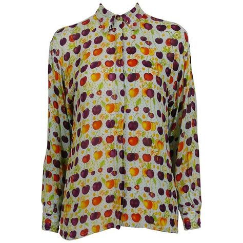 Gianni Versace Shirt - Versace Jeans Vintage Multicolour Cherry Print Semi Sheer Blouse Size Cherry  You are in the right place about Blouse hijab   Here we offer you the most beautiful pictures about the  Blouse batik  you are looking for. When you examine the Gianni Versace Shirt - Versace Jeans Vintage Multicolour Cherry Print Semi Sheer Blouse Size Cherry part of the picture you can get the massage we want to deliver. Yo can see that ... #Blouse And Skirt #Blouse Casual #Blouse Muslimah