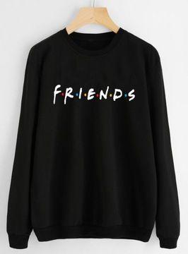 Bluza Damska Czarna Friends Insta S 7697010479 Allegro Pl Fashion Sweatshirts Sweaters