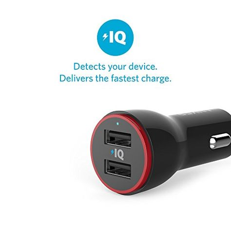 Dual USB Car Charger Adapter for iPhone XS//MAX//XR//X//8//7//6//Plus iPad Pro//Air 2//Mini Note 5//4 and More LG Nexus HTC
