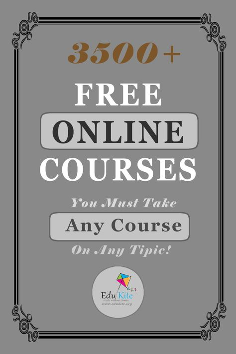 3500+ Free Online Courses