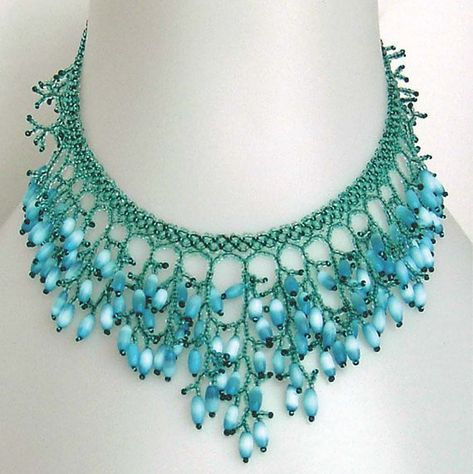 Items similar to Pattern for a seed beaded necklace detailed instructions on beading netting stitch coral fringe necklace beading patterns beading tutorial on Etsy