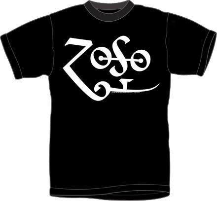 Led Zeppelin Zoso logo t-shirt